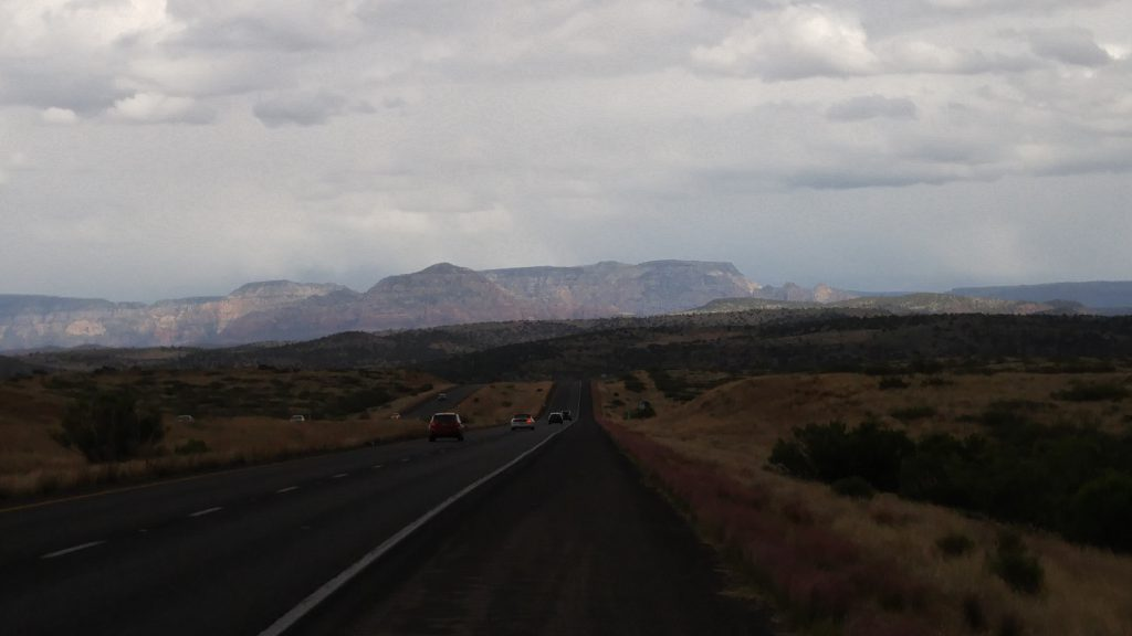 Just after I took this picture looking towards Sedona, the rain gods became disturbed.