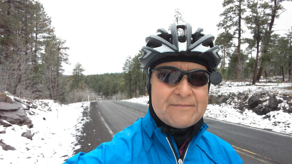 Yes that is snow. Just a few miles away from Flagstaff.