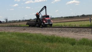 I also got a picture of the truck that rode and worked the rails. My inner Sheldon Cooper was satisfied.