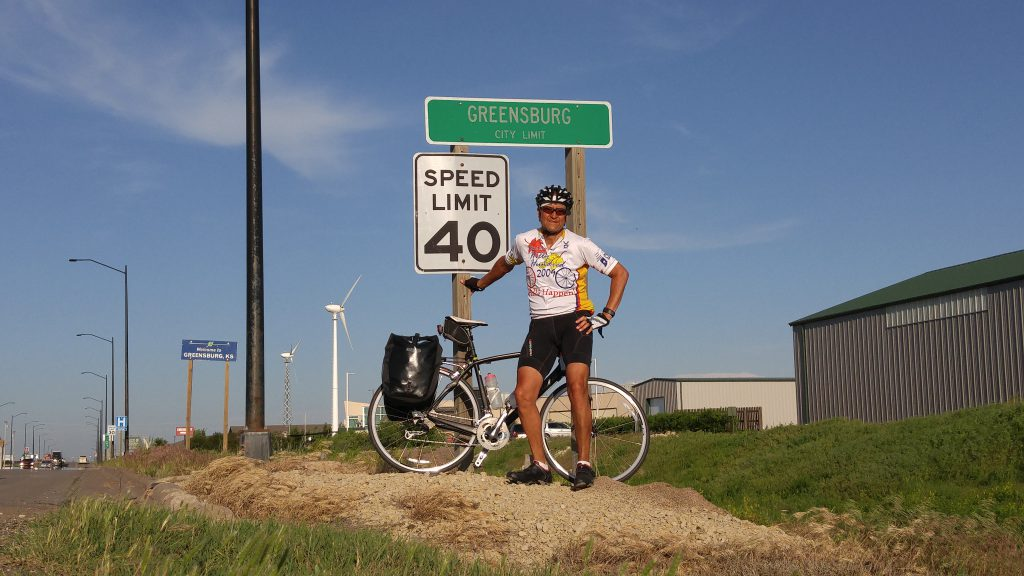 After almost 100 miles I made it to Greensburg.  But I  had a little more riding to do.