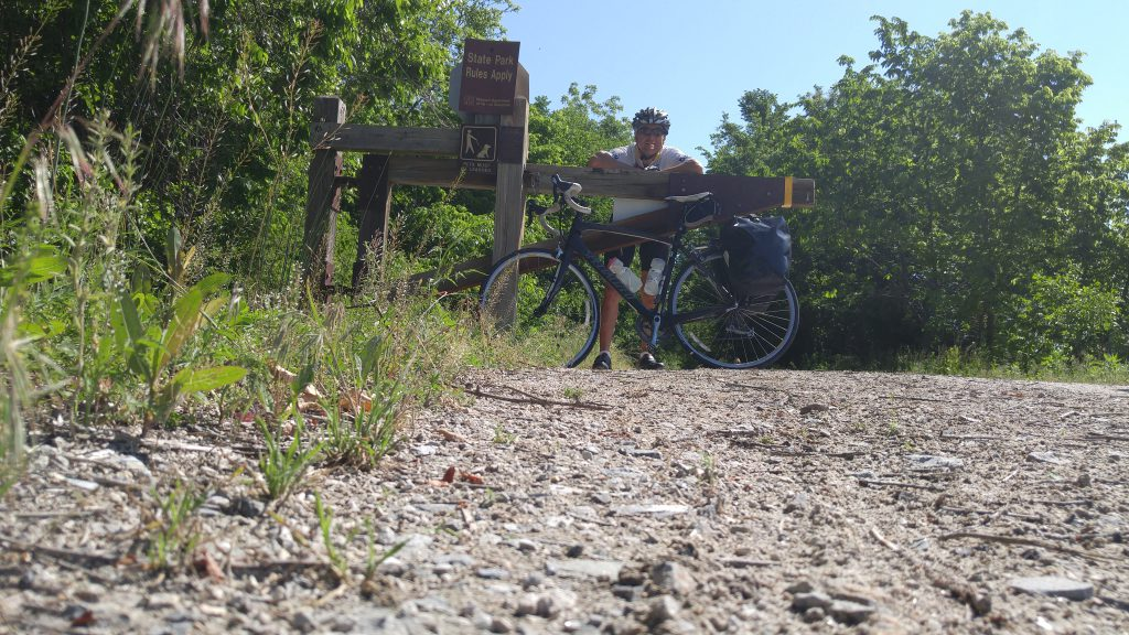 Although I crossed the Katy Trail several times, I chose not to ride it