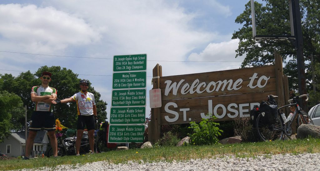 A fellow adventure cyclist from London met me at the outskirts of St. Joseph