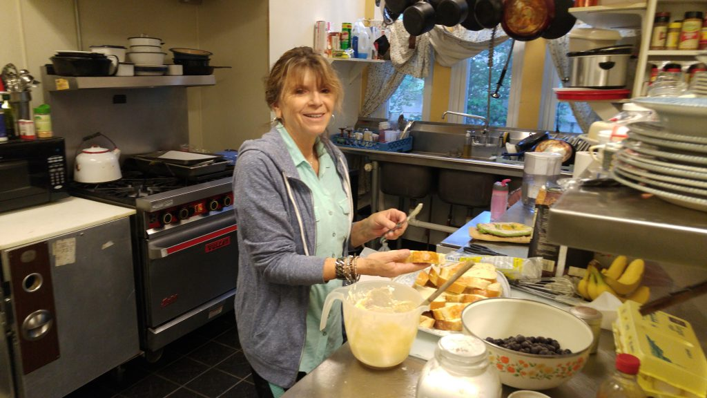 Susan Lockhart was already working on some killer french toast.