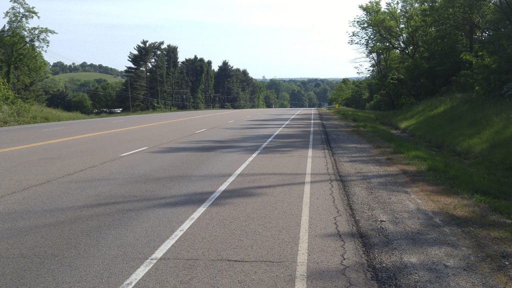 It was nice to have a dedicated bike lane for a few miles.